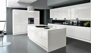 la cuisine blanche le blog des cuisines With idee deco cuisine avec salle a manger contemporaine blanche