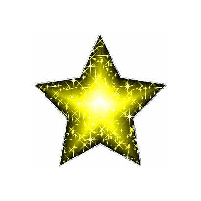 Star Yellow Stars Glitter Clip Silver Giphy