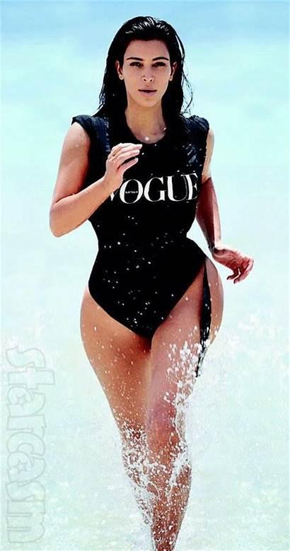Kim Kardashian Animated Beach Running Boobs Curves