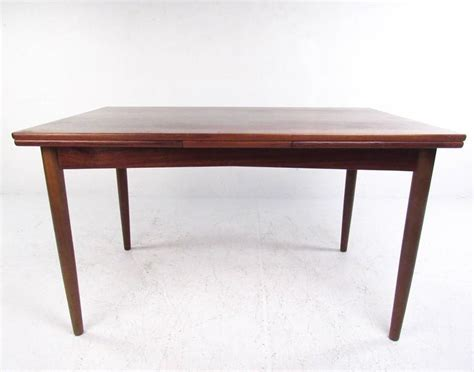 Dining Room Table 30 Inches Wide by Mid Century Rosewood Expandable Dining Table By N O