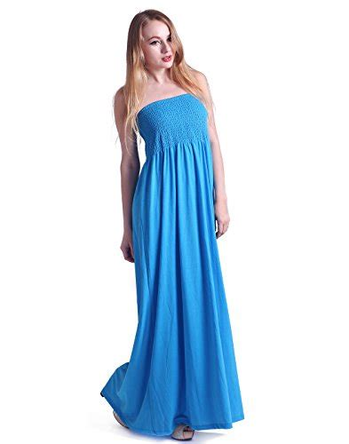 hde womens strapless maxi dress  size tube top long