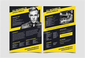 Dj press kit dj resume templates by iamvinyljunkie on for Dj press kit template free