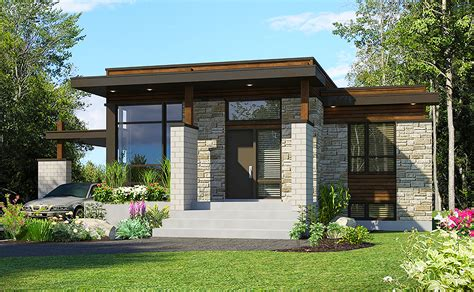 Compact Modern House Plan 90262PD Architectural