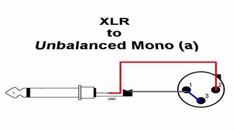 wiring xlr 2 mono a
