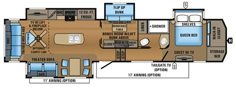Jayco 5th Wheel Floor Plans 2018 by 2017 Point Luxury Fifth Wheel Floorplans Prices