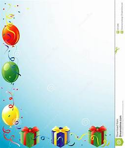 Balloons And Present Border Stock Photography - Image: 5412282