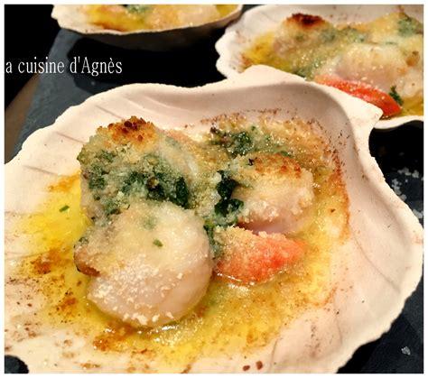 cuisiner corail jacques coquilles jacques gratinées au four blogs de cuisine