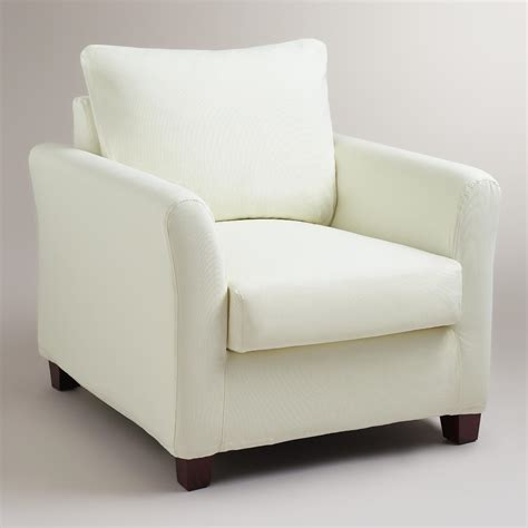 ivory luxe chair slipcover world market