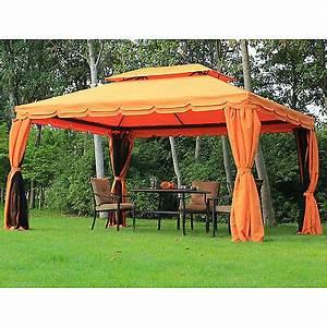 Gartenpavillon Metall 3x4 : pavillon gartenpavillon 3x4 m beige mit seitenteilen und ~ A.2002-acura-tl-radio.info Haus und Dekorationen