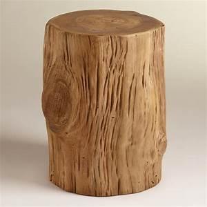 Teak Tree Stump Table World Market