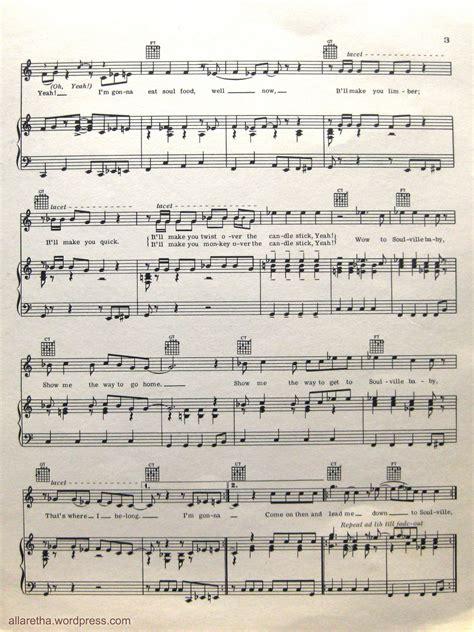 soulville sheet music allaretha