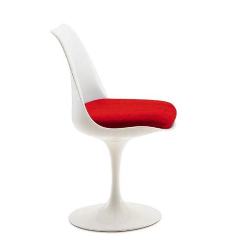 chaises tulipe chaise tulipe blanc avec coussin discount design