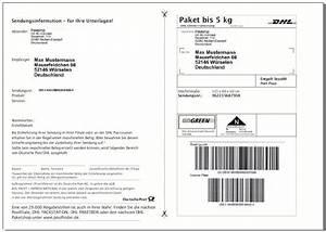 Dhl Online Frankierung Rechnung : dhl versandetiketten paketaufkleber selbstklebende paket ~ Themetempest.com Abrechnung