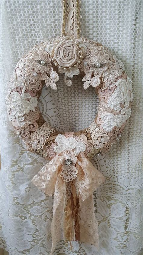 best 25 shabby chic wreath ideas on