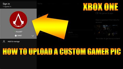 Upload Custom Xbox One Gamerpic For Profile And Clubs Xbox One Guide Youtube