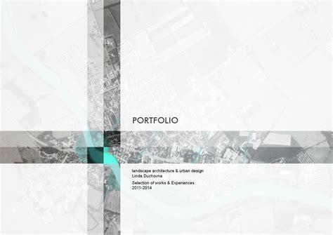 Portfolio 2011 2014 Landscape Architecture & Urban Design