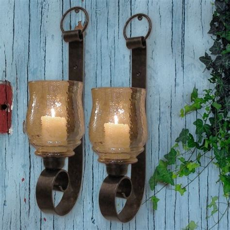 tuscan decorative wall light sconces candle wall decor room ornament