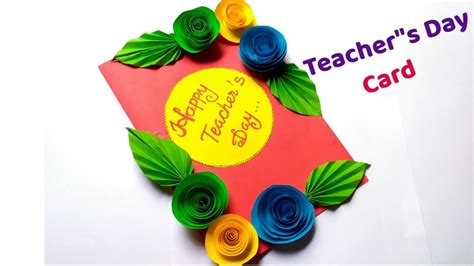 diy teachers day card handmade teachers day carddiy