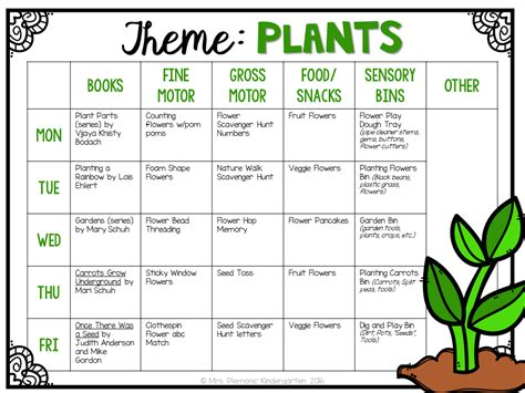 theme for preschool tot school plants mrs plemons kindergarten 214