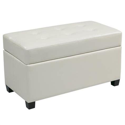 Ottoman Storage White by Vinyl Storage Ottoman In White Met804v Pb11