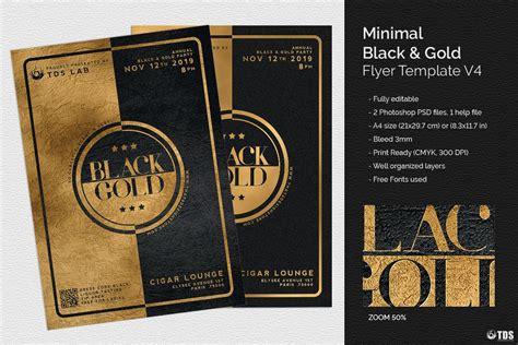 Minimal Black and Gold Flyer Template V4 (31349) Flyers