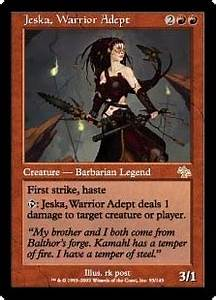 Target Market Jeska Warrior Adept Creature Cards Mtg Salvation