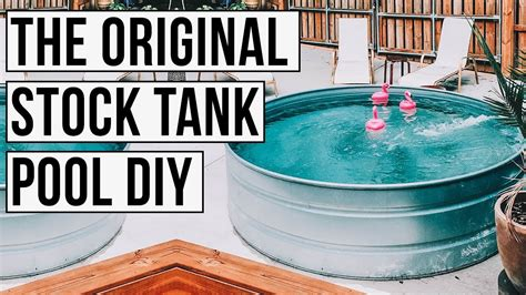 original stock tank pool diy youtube