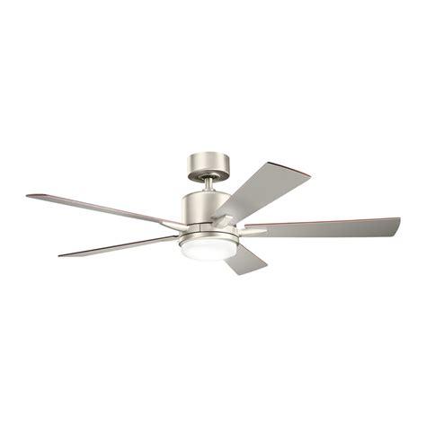 lowes ceiling fans with lights and remote shop kichler lighting lucian 52 in brushed nickel downrod