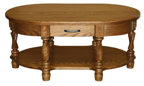 solid oak coffee table amish coffee table oval traditional solid wood twisted leg