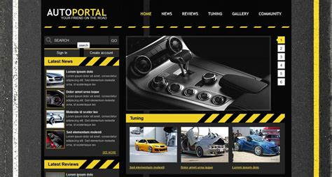 Build A Car Website by Auto Portal Template For Shop Of Cars Auto Portal For You