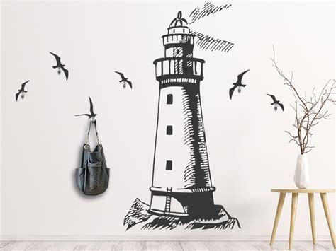 Wandtattoo Kinderzimmer Leuchtturm by Wandtattoo Garderobe Leuchtturm Mit Wandhaken Wandtattoos De