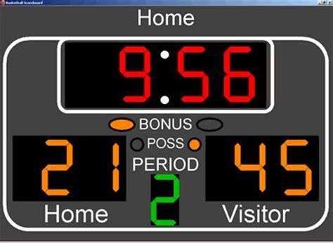 nba basketball printable clip art basketball scoreboard