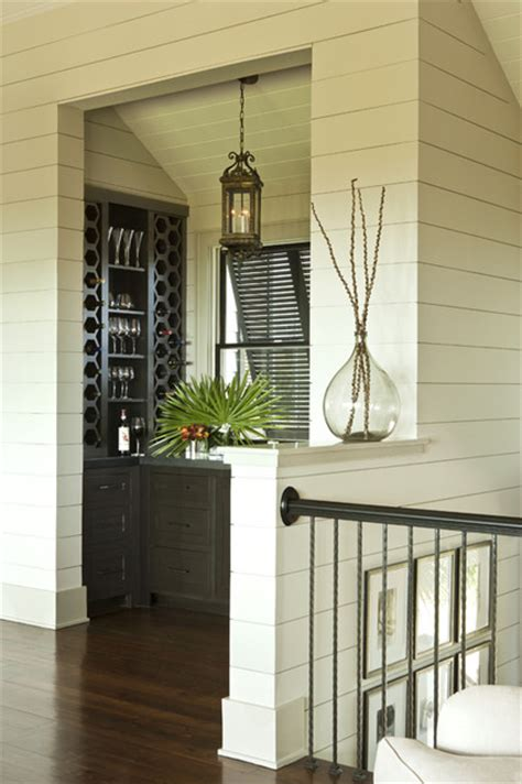 shiplap bar tropical wine cellar charleston  brown glaws contractors fine custom homes