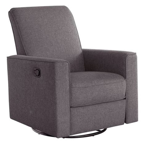 gray glider recliner bowery hill nursery swivel glider recliner chair in gray