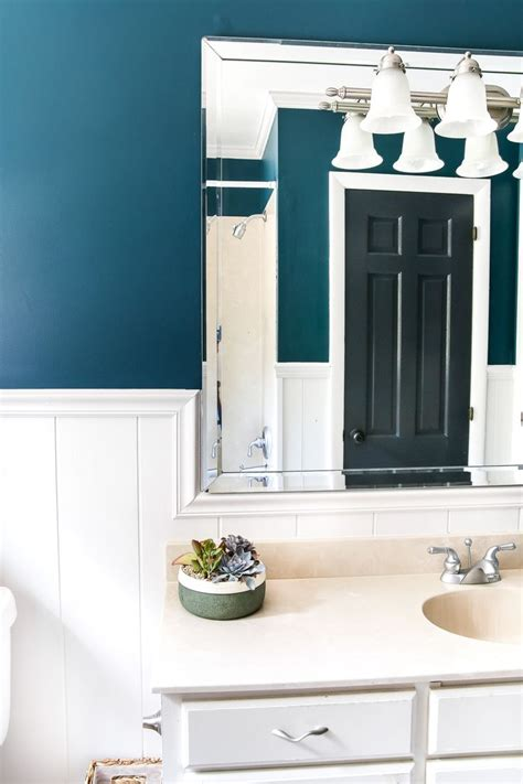 teal painted bathroom makeover paint colors