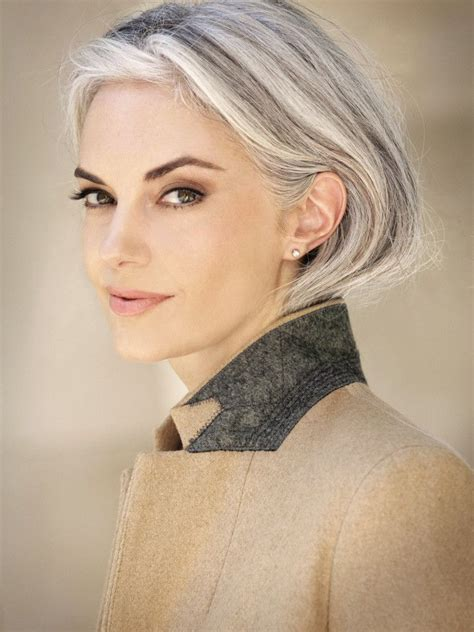 to medium haircuts for 50 best gray hair images on grey hair white 2503