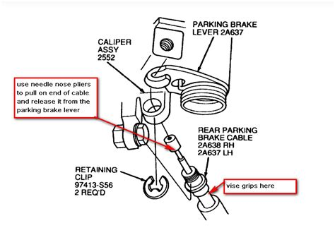 small engine repair training 2001 ford taurus parking system ford taurus questions how do i remove the emergency cable from the rear caliper of a ford ta