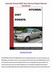 2006 Hyundai Sonata Repair Manual Free Download