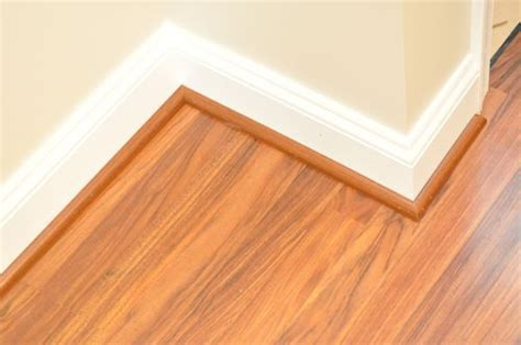 Trim Baseboard Molding For A Laminate Floor