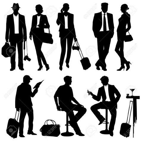 Silhouette Persone Sedute Free Travel Cliparts Free Clip Free
