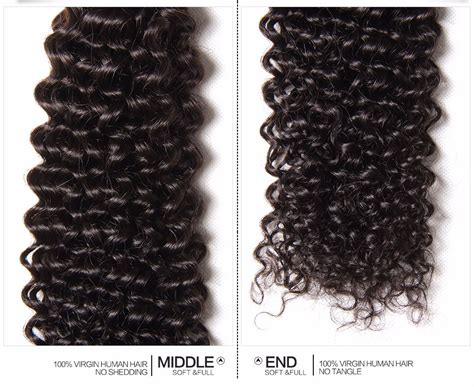 Malaysian Virgin Curly Hair 3 Bundles With 4