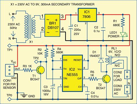 motion detector using ne555 timer electronics for you