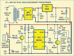 Motion Detector Using Ne555 Timer
