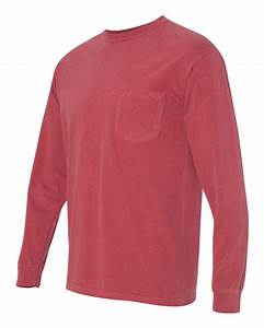 Comfort Colors - Long Sleeve Pocket T-Shirt - 4410 S-3XL ...