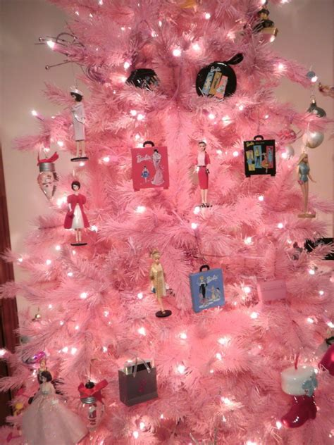 holiday barbie themed christmas tree family holiday