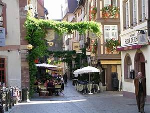 Street cafe in Strasbourg, France wallpapers and images ...