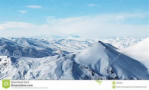Snowy Mountains Under Beautiful Sky Royalty Free Stock ...