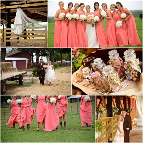 Barn Wedding Bridesmaid Dresses by Florida Country Barn Wedding At Santa Fe River Ranch