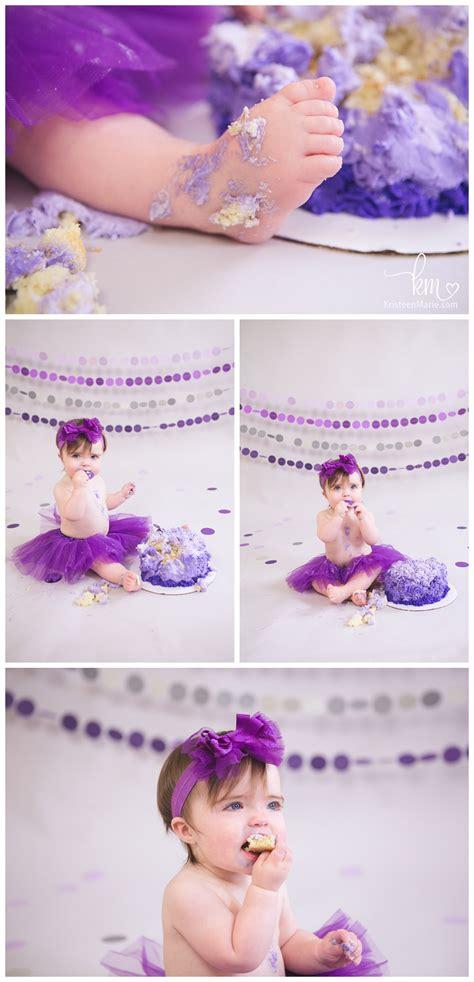 remmy   purple ombre cake smash photography