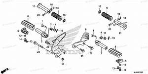Honda Motorcycle 2017 Oem Parts Diagram For Step